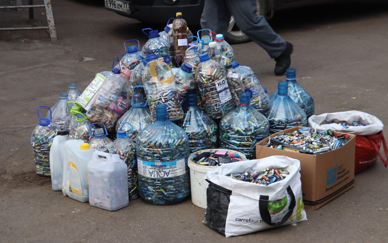 Более 3,5 тонн батареек на переработку отдали жители Орехова-Борисова Южного в 2019 году