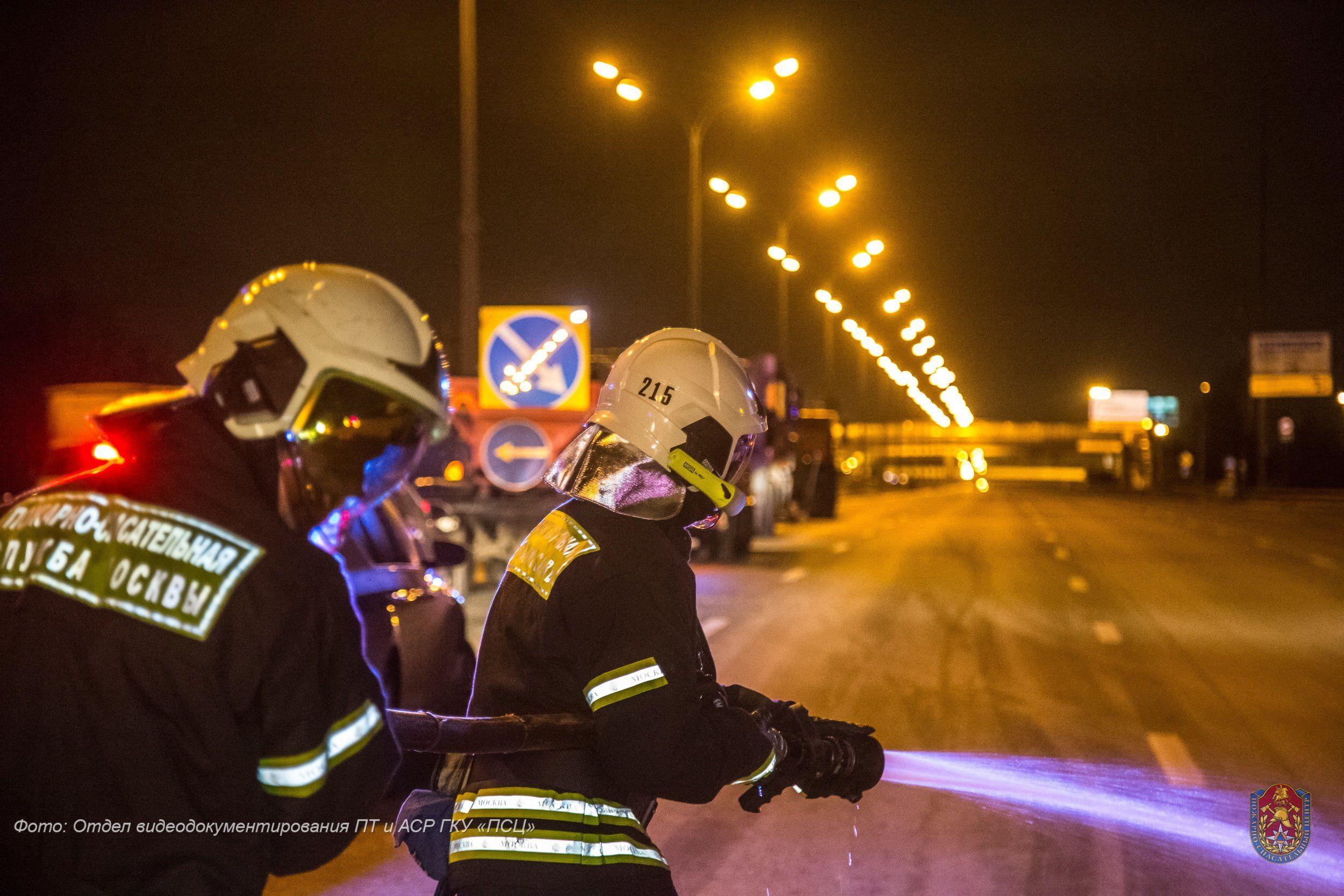 С начала ноября московские пожарные спасли 5 человек при ДТП