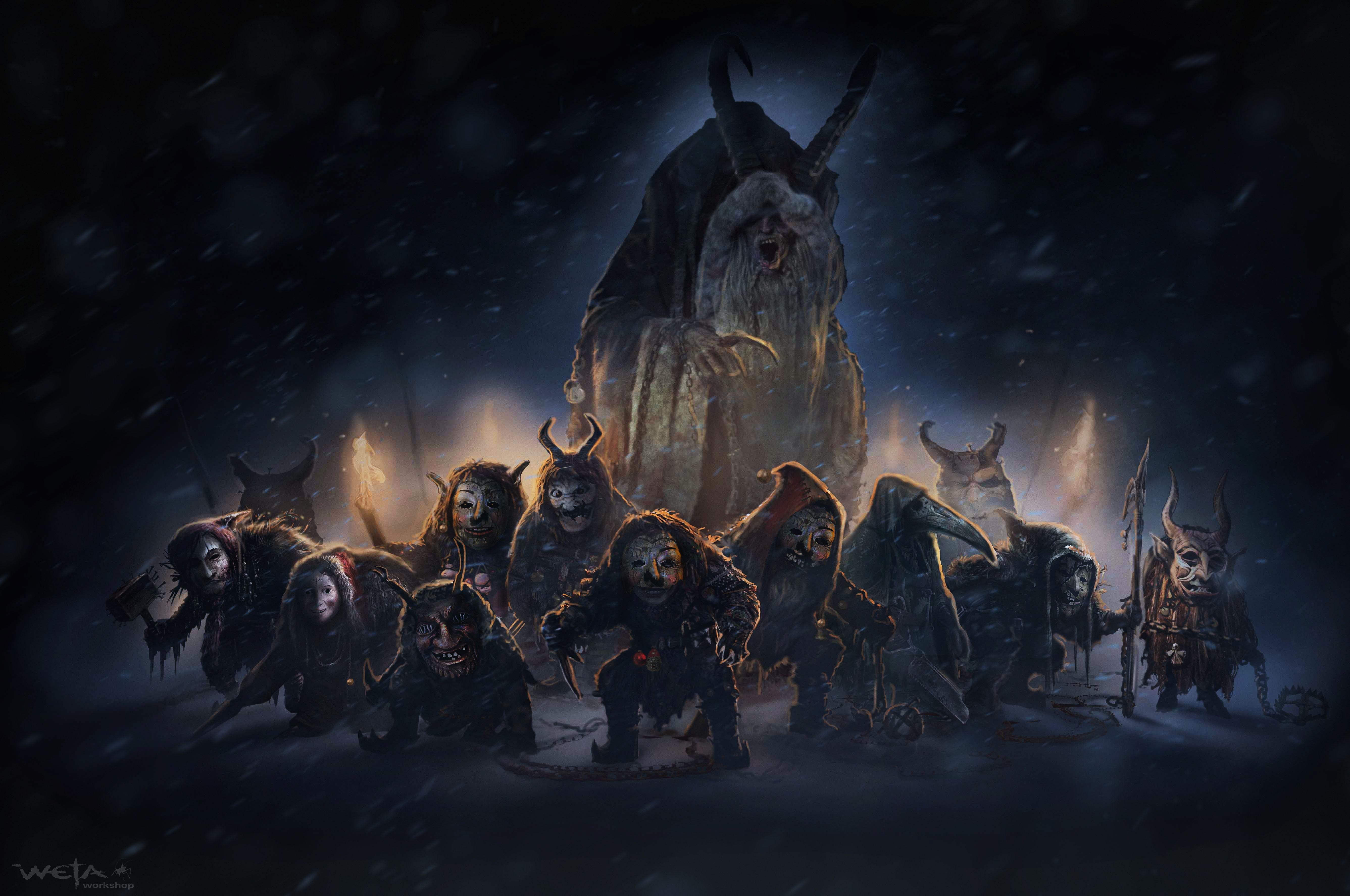 Крампус и Белсникель: темные рождественские фольклорные герои