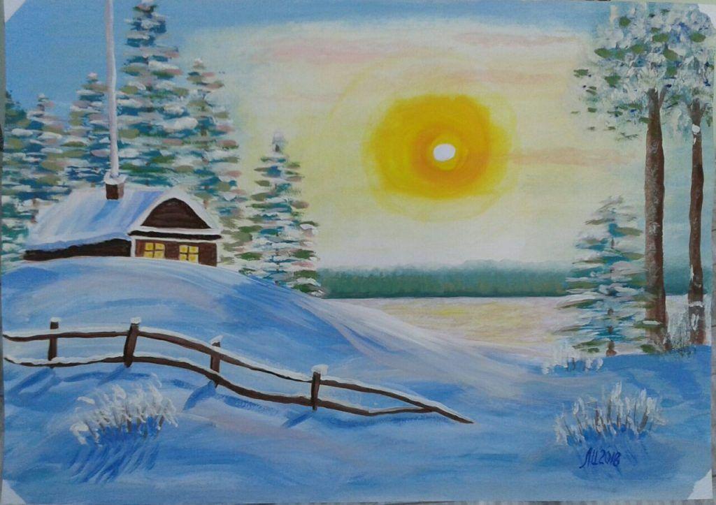 Многие работы Ирины Павловны выставлены в центре социального обслуживания, или подарены друзьям