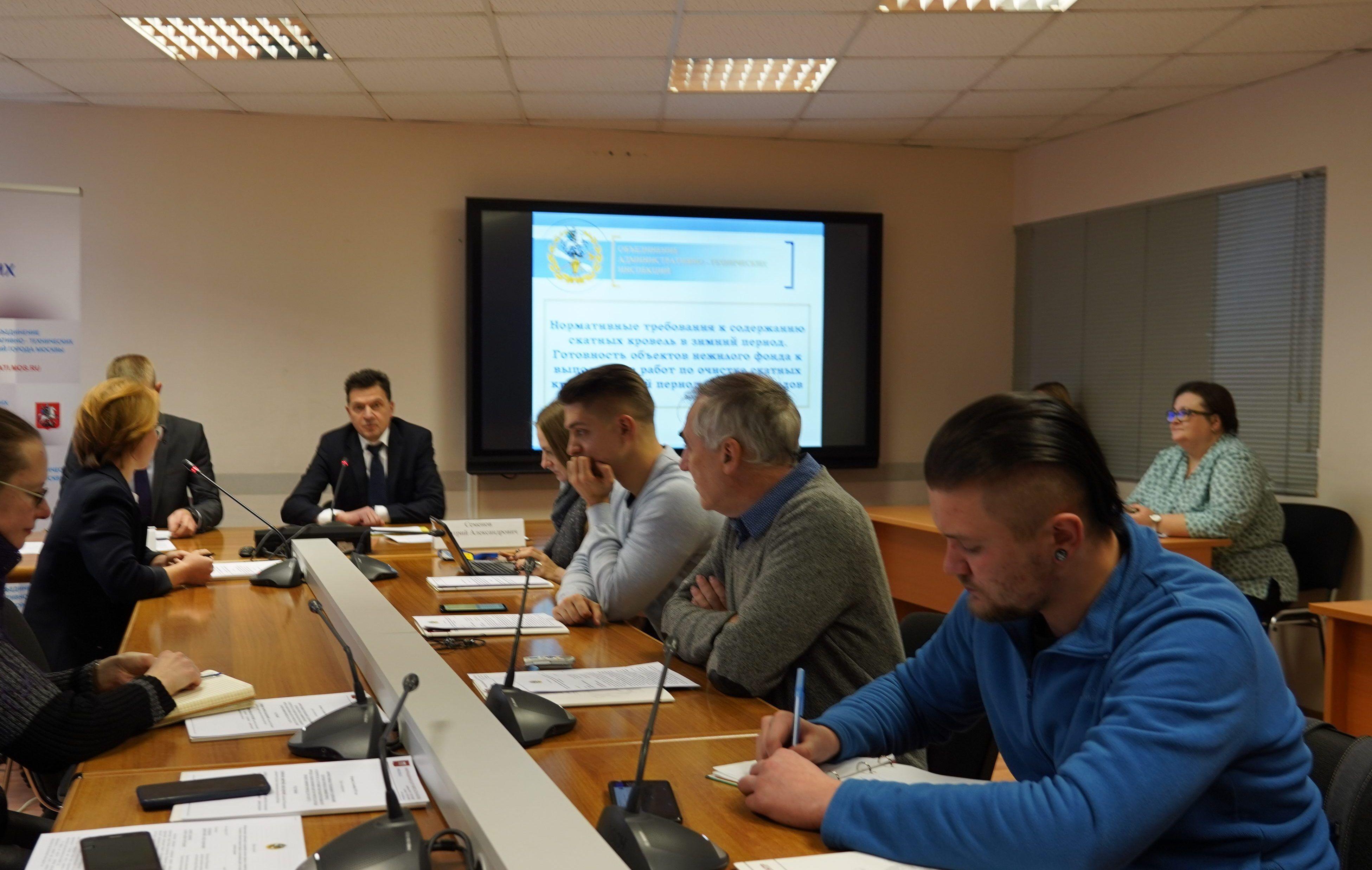 Пресс-конференцию о содержании скатных кровель зимой провели в Москве