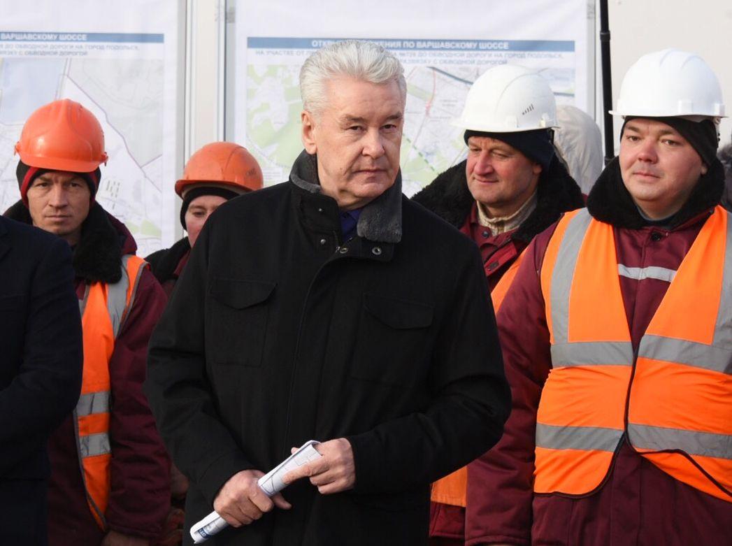 Собянин открыл дублер Киевского шоссе в Новой Москве