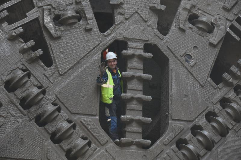Уникальный метод работы применили на станции Большой кольцевой линии