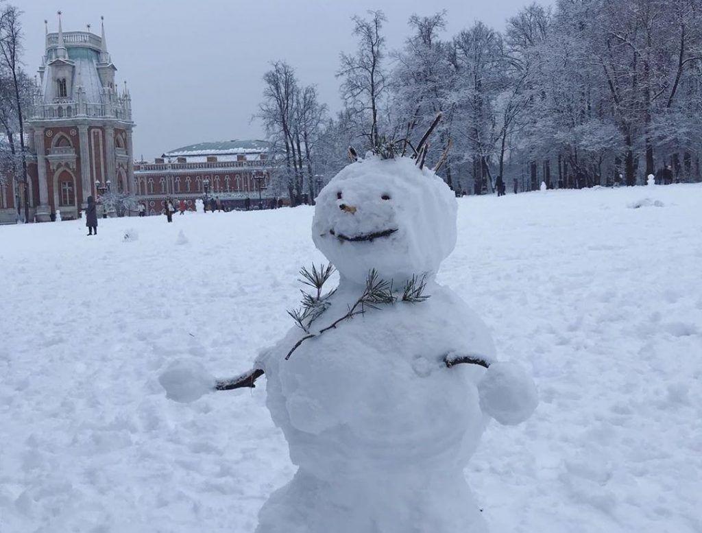 Снеговики на любой вкус: народный корреспондент поделилась фото с прогулки по «Царицыно»