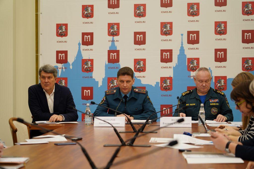 Пресс-конференцию о безопасности в зимний период провели в столице