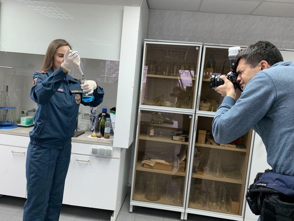 Встречу с журналистами провели в Судебно-экспертном центре федеральной противопожарной службы