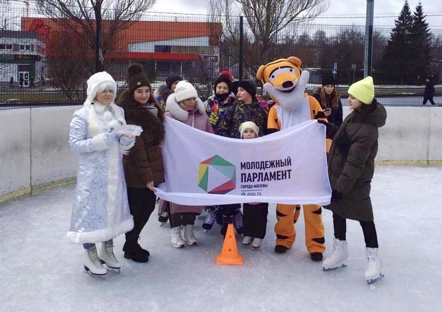 Молодые парламентарии Царицына провели ледовую эстафету