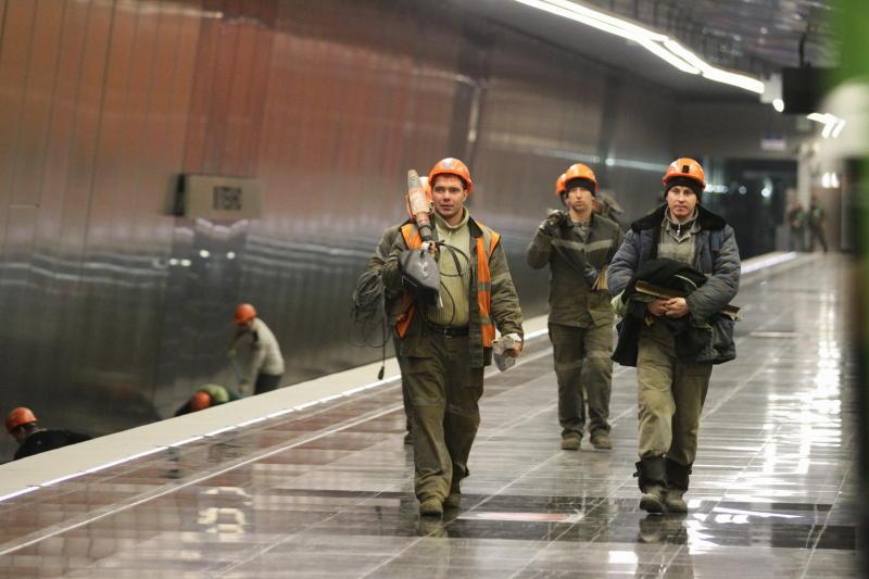 Стеклофибробетон впервые применили при отделке двух станций БКЛ метро