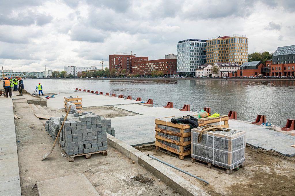 Набережные Москвы-реки реконструируют до 2023 года