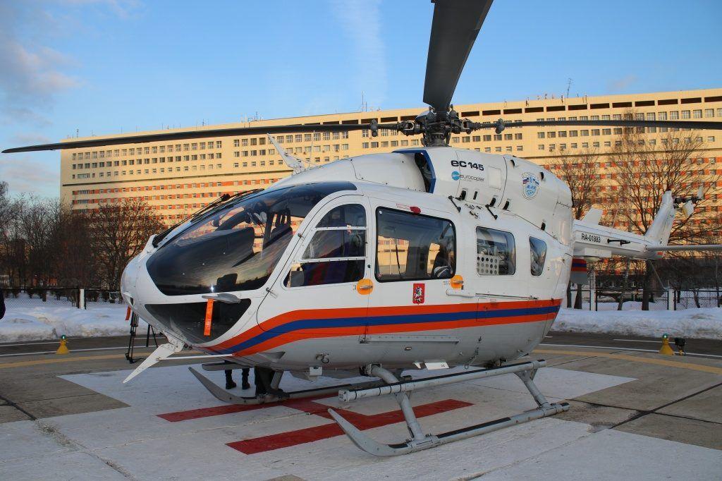 Более 270 пострадавших было доставлено санитарными вертолетами Московского авиацентра в ГКБ им. С.С. Юдина