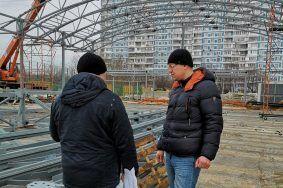 Ход строительства катка проверили в Орехове-Борисове Южном. Фото предоставил Максим Демченков