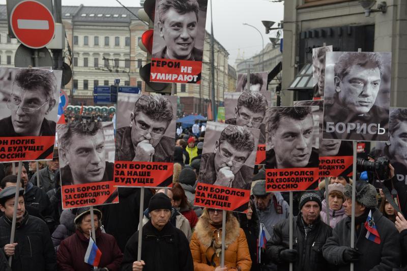 В Москве начался марш памяти Бориса Немцова. Фото: Александр Казаков