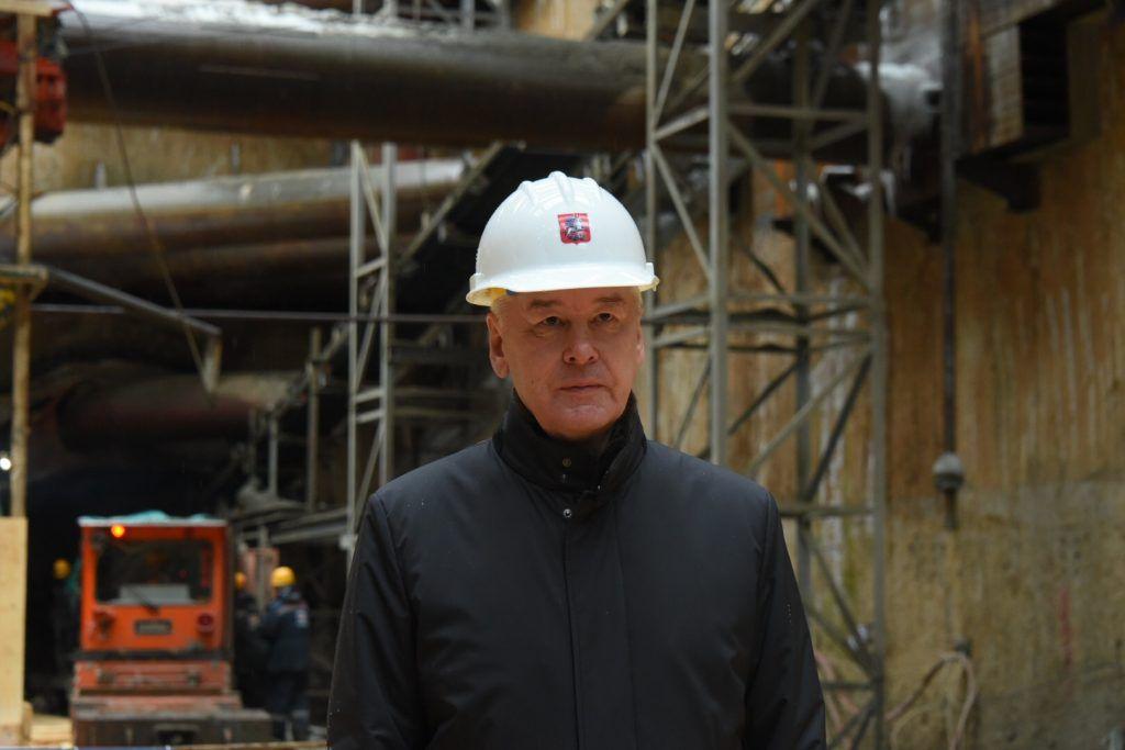 Собянин дал старт проходке двух больших тоннелей БКЛ метро
