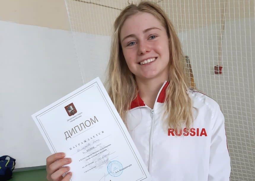 Воспитанница спортивной школы олимпийского резерва №47 завоевала серебро на Кубке Москвы по плаванию