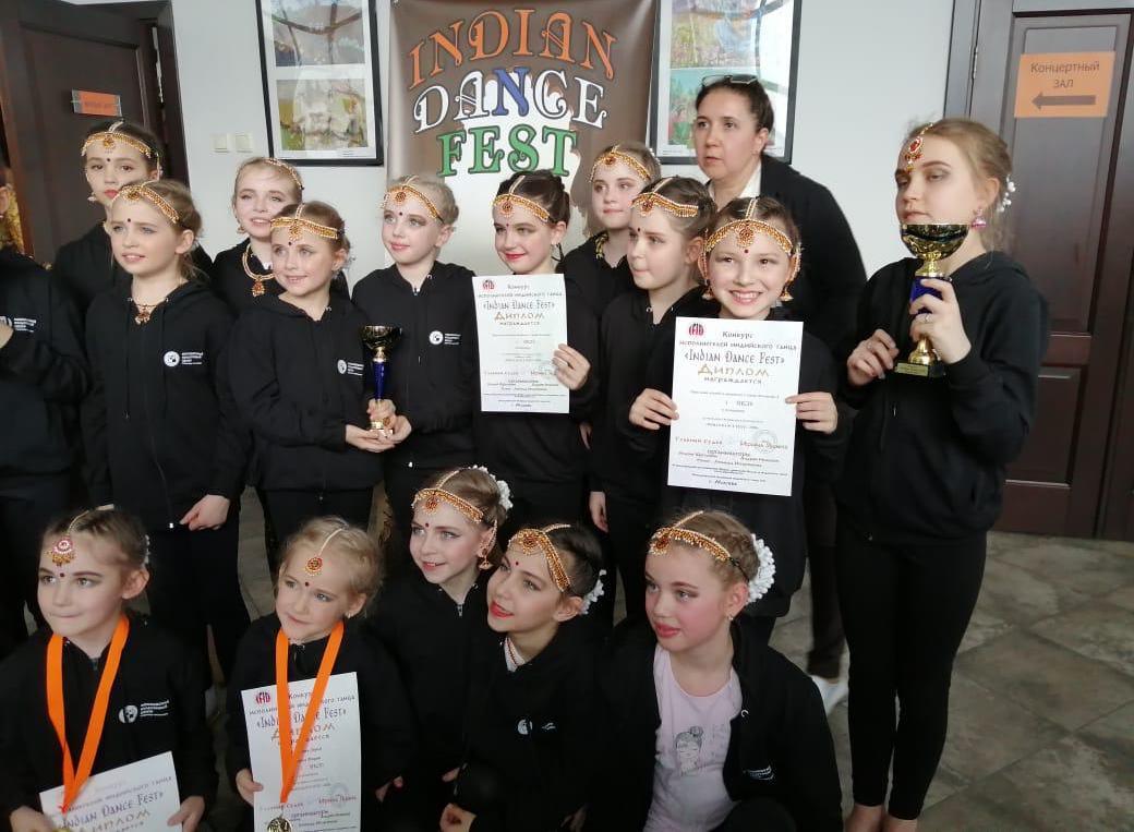 Воспитанницы студии «Калакар» завоевали три золотые медали на фестивале индийских танцев
