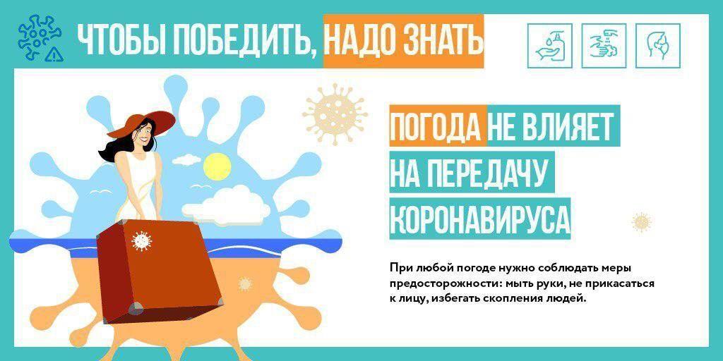 Потепление не повлияет на распространение коронавируса