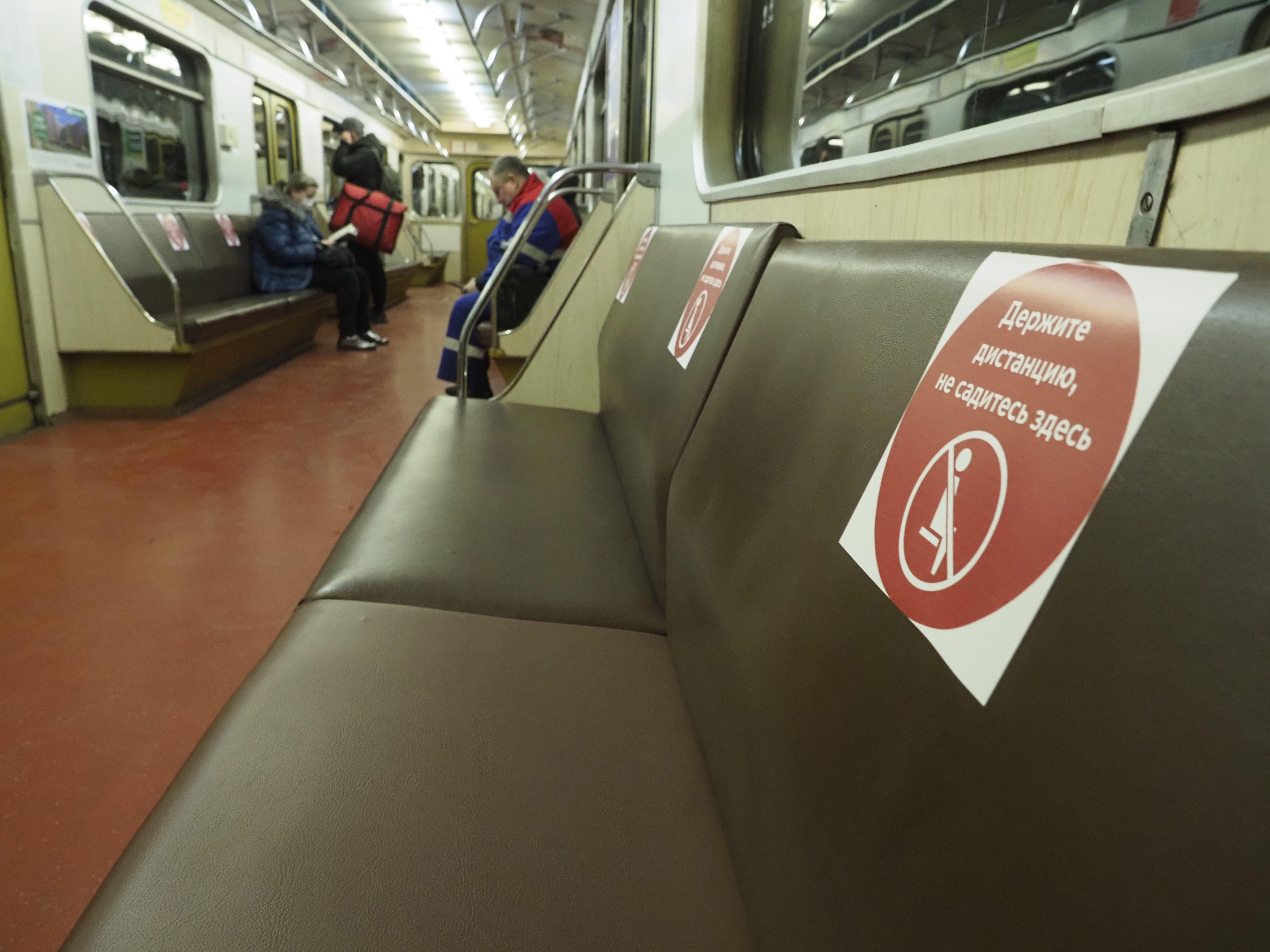 Пассажиропоток Московского метрополитена уменьшился на 80 процентов