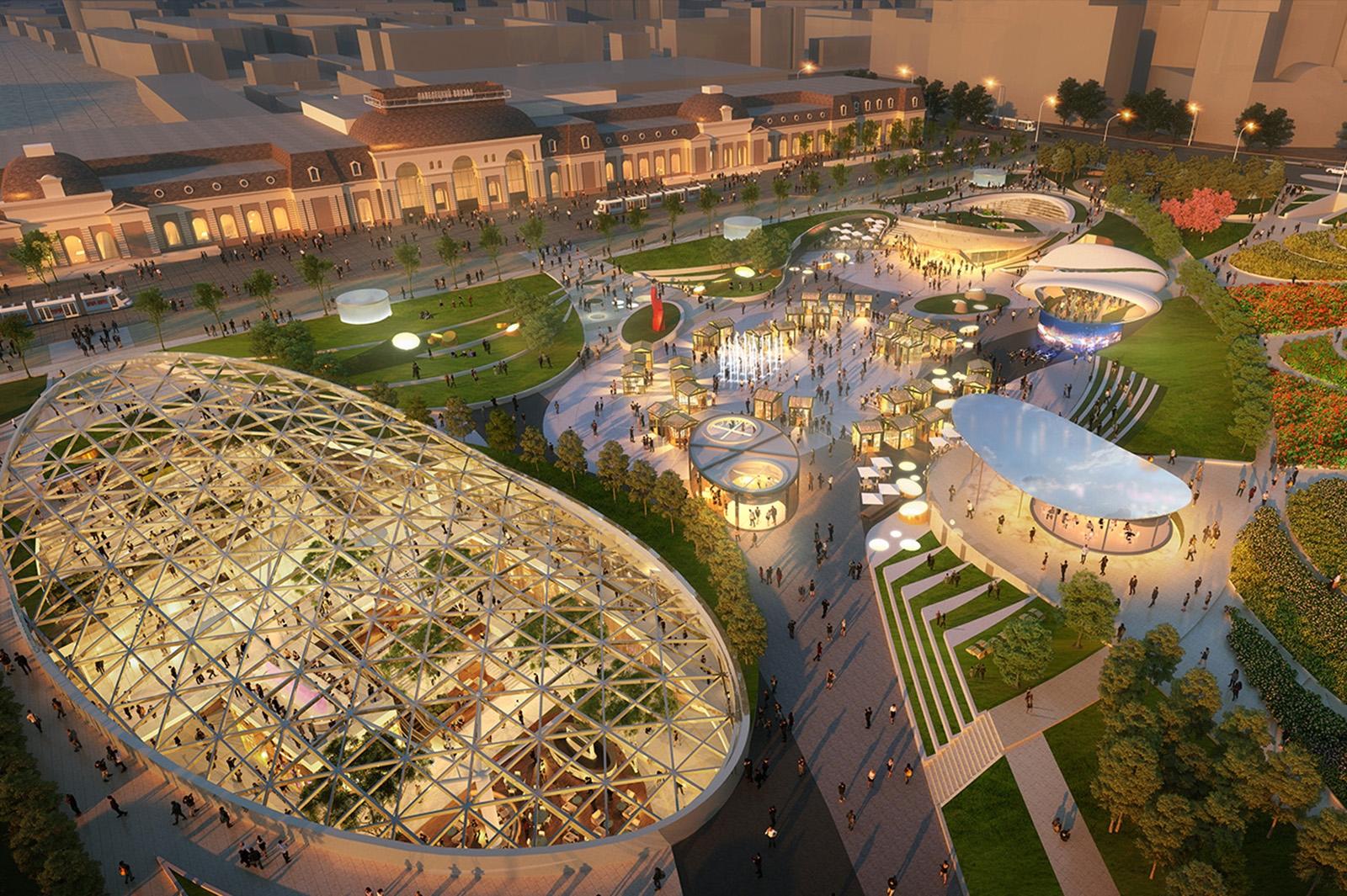 Строительство торгового центра на Павелецкой площади в Москве завершат в 2021 году