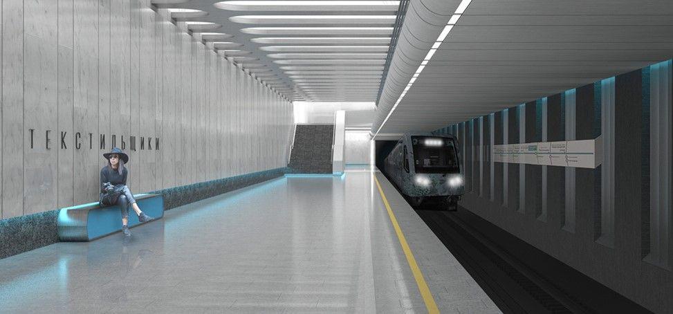 Выемку грунта из котлована на станции БКЛ метро «Текстильщики» завершили на 90 процентов