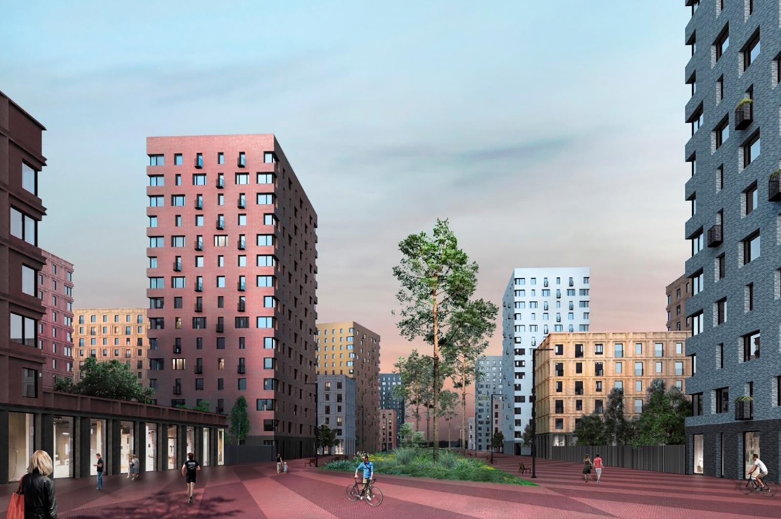 Жилой квартал с фонтаном и ритейл-парком появится на юго-западе Москвы