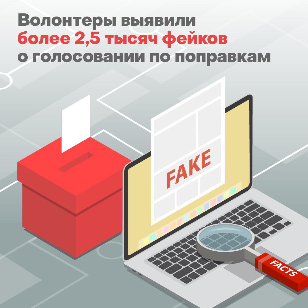 Обилие фейков о голосовании по поправкам в Конституцию РФ выявили в интернете