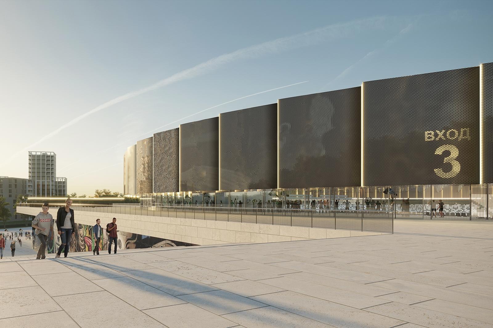 Проект реконструкции стадиона «Торпедо». Фото: stroi.mos.ru
