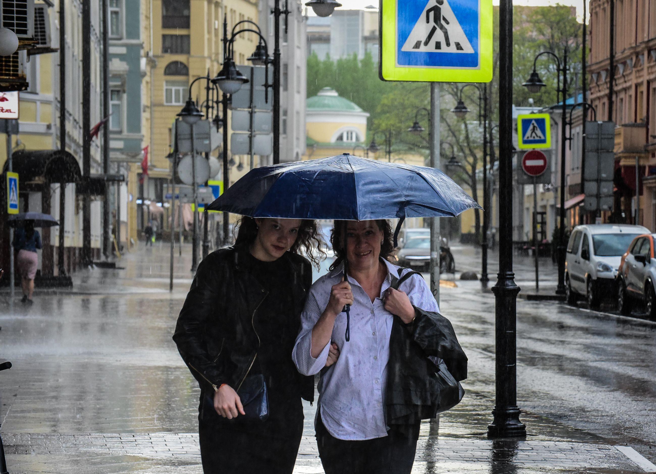 МЧС и парковщики забили тревогу перед грозой в Москве