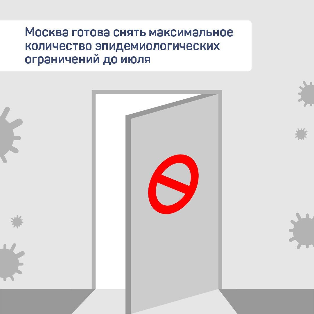 Большинство ограничений снимут в Москве до июля