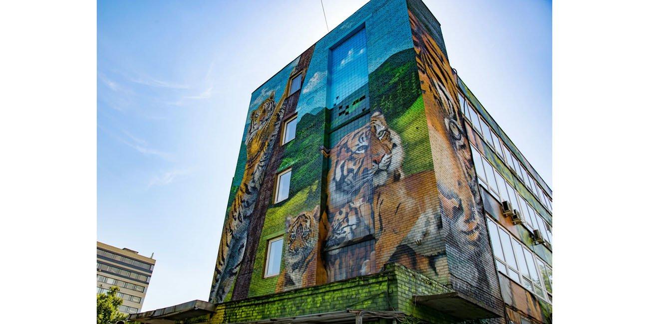 Фасады украшены изображениями амурских тигров.Фото: сайт мэра Москвы