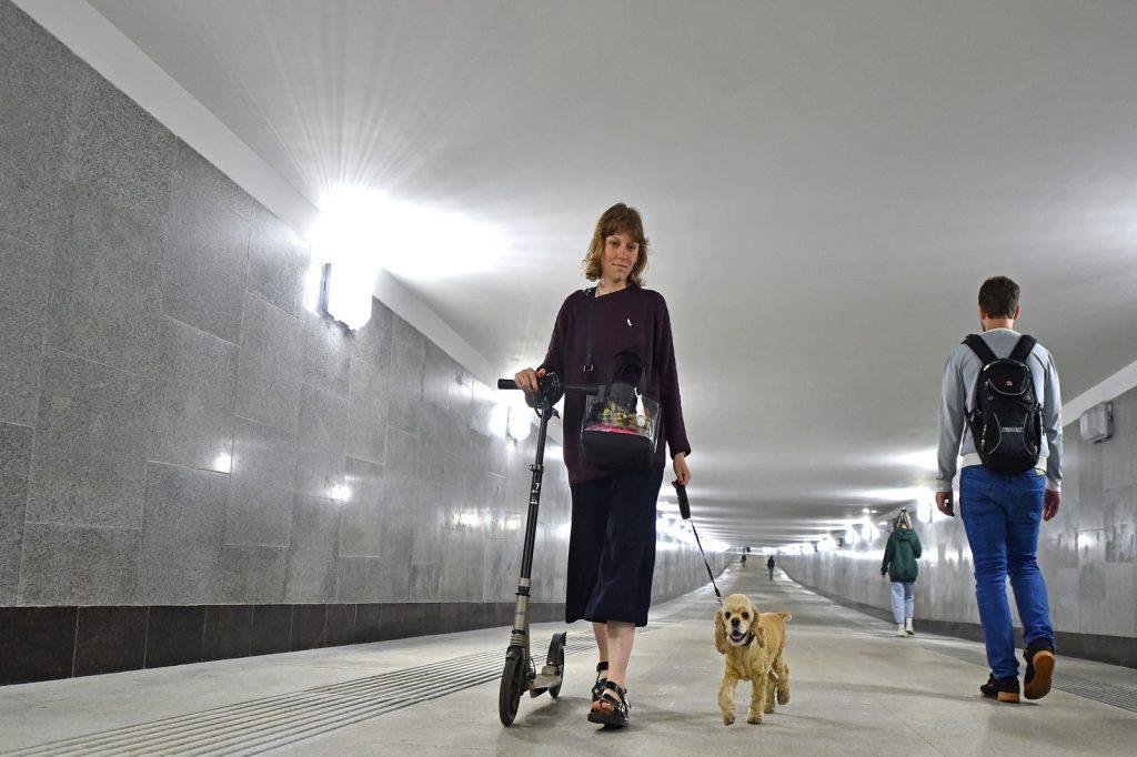 Переход через железнодорожные пути в Донском районе достроили. Фото: сайт столичного Комплекса градостроительной политики и строительства