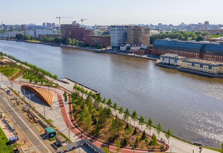 Углубление дна и «секретные сады»: москвичам рассказали о благоустройстве набережной Марка Шагала