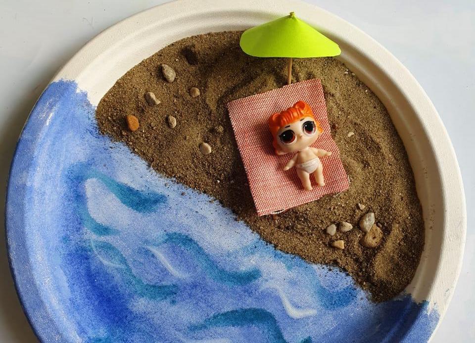 Море дома: жители юга организовали пляж в тарелке. Фото предоставила специалист по связям с общественностью Культурного центра «Северное Чертаново»Юлия Филиппова