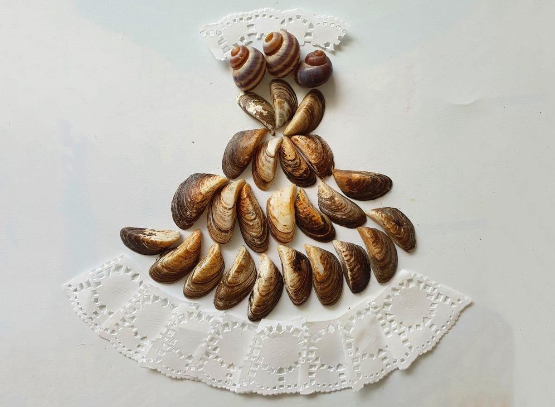 Платье из ракушек смастерили в «Северном Чертанове»