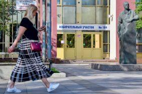 Санитарные нормы соблюдают на участках для голосования. Фото: сайт мэра Москвы