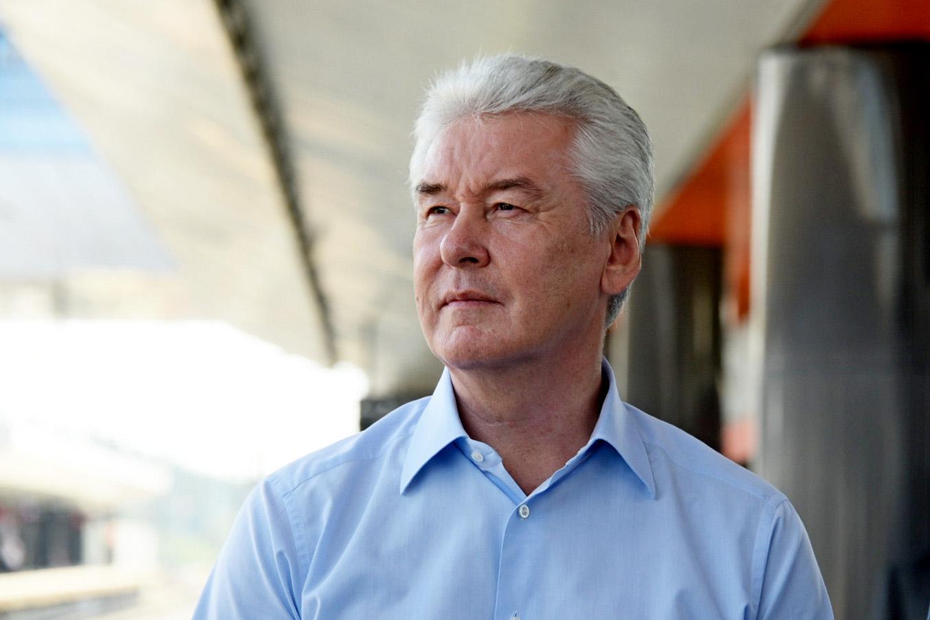 Собянин оценил ход строительства станции БКЛ «Улица Народного Ополчения»