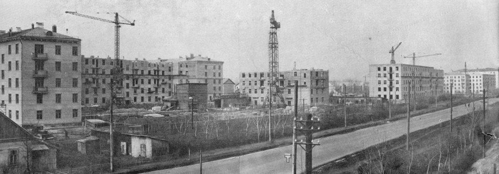 Строительство на территории поселка ЗИС началось в 1957 году. Фото: pastvu.com
