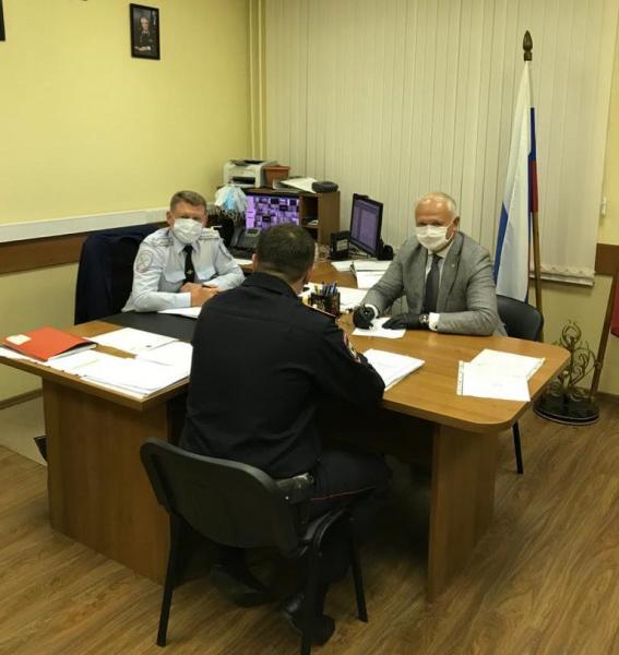 Председатель Общественного совета при УВД по ЮАО Харис Ильясов посетил ОМВД России по району Бирюлево Восточное