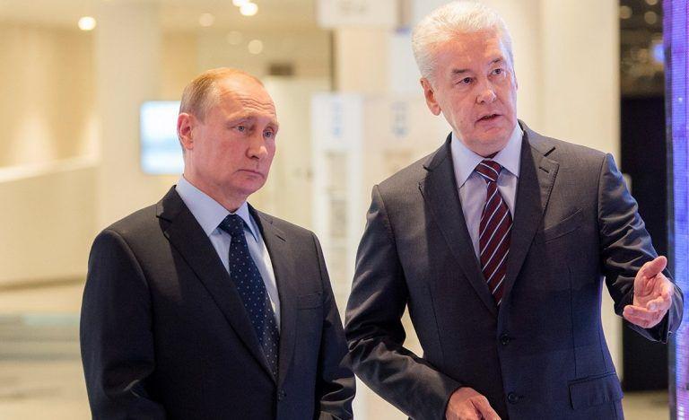 Путин и Собянин приняли участие в посвященном Дню города Москвы мероприятии