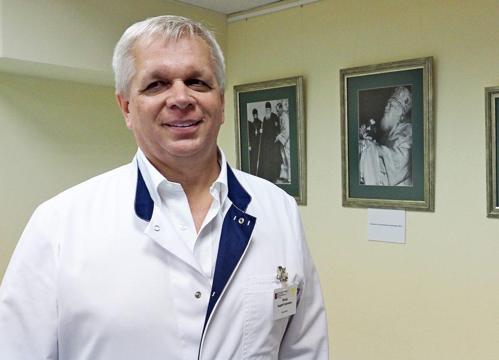 Главный врач городской клинической больницы №67имени Леонида Ворохобова Андрей Шкода