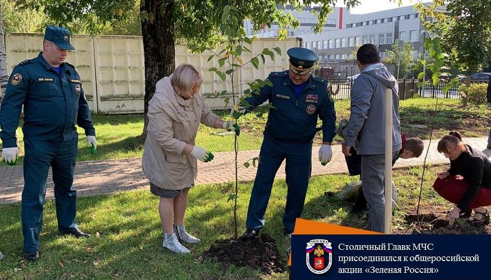 Столичный Главк МЧС и пожарные 83 ПСЧ присоединились к общероссийской акции «Зеленая Россия»