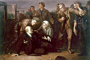 Историческое покушение на Ленина нашло отражение в художественном творчестве. Как на этой картине Петра Белоусова «Покушение на Ленина». Фото: astvu.com
