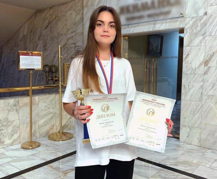 Студентка технологического колледжа №34 стала призером чемпионата России