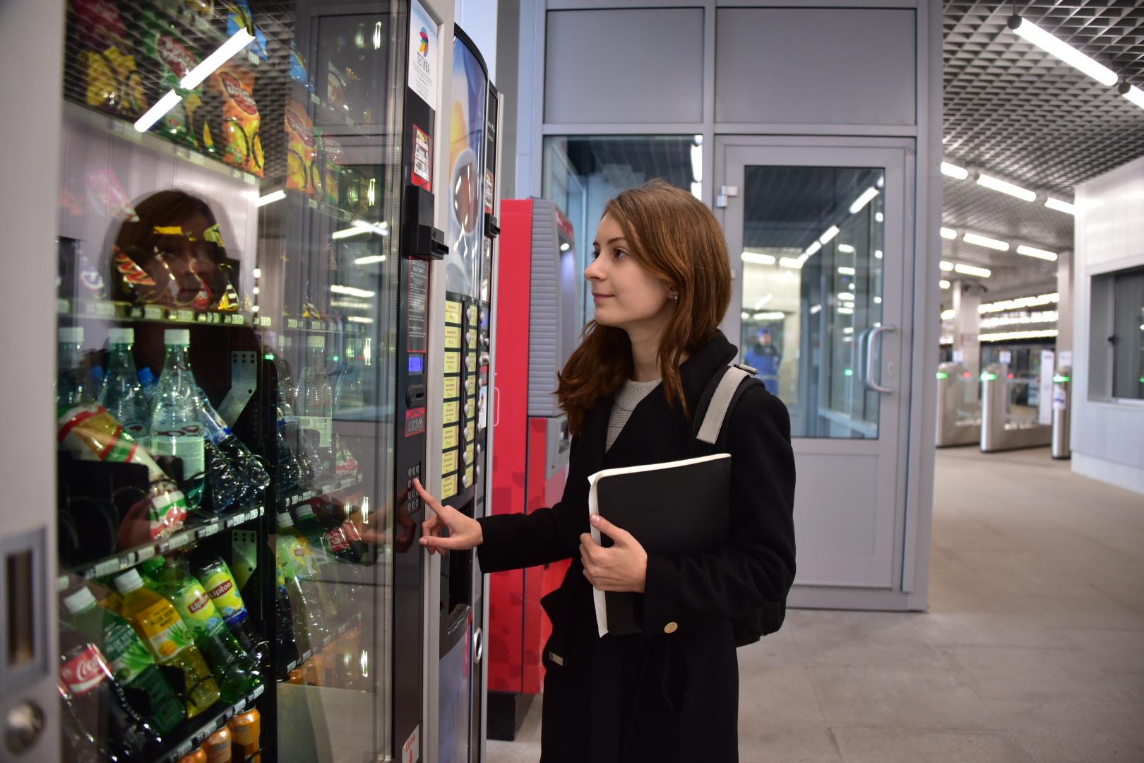 Почти 50 вендинговых аппаратов установили на станциях МЦК