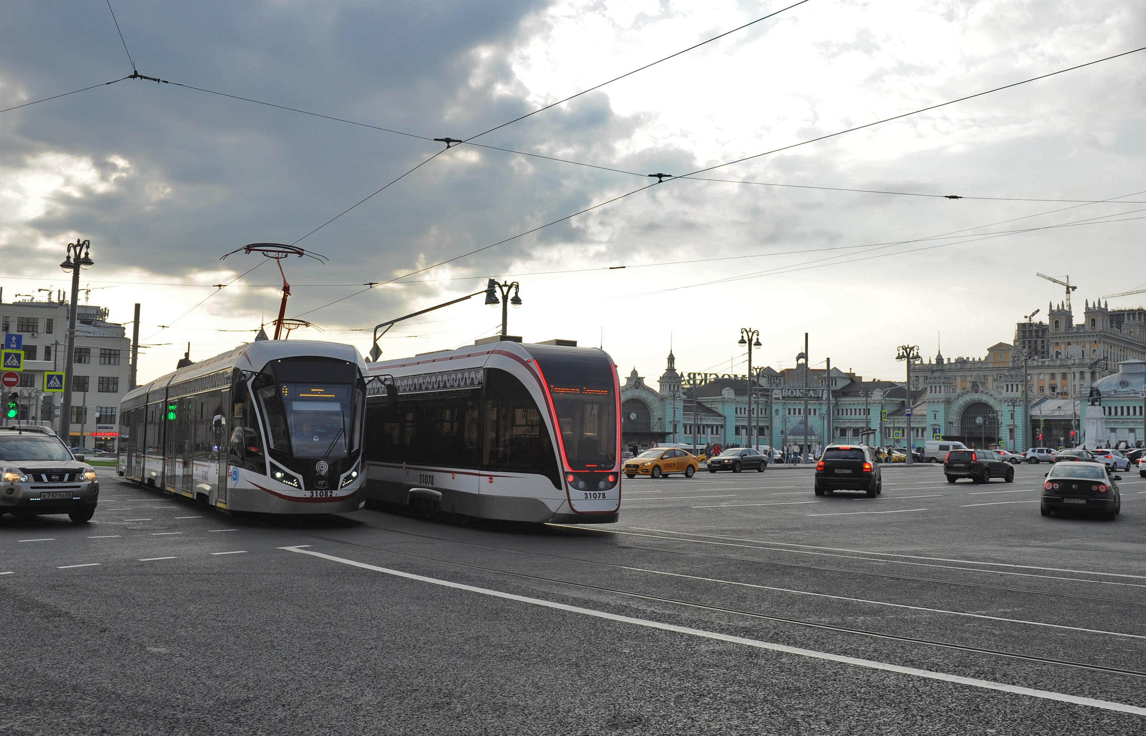 Трамвайный парк в Москве укомплектуют новыми составами