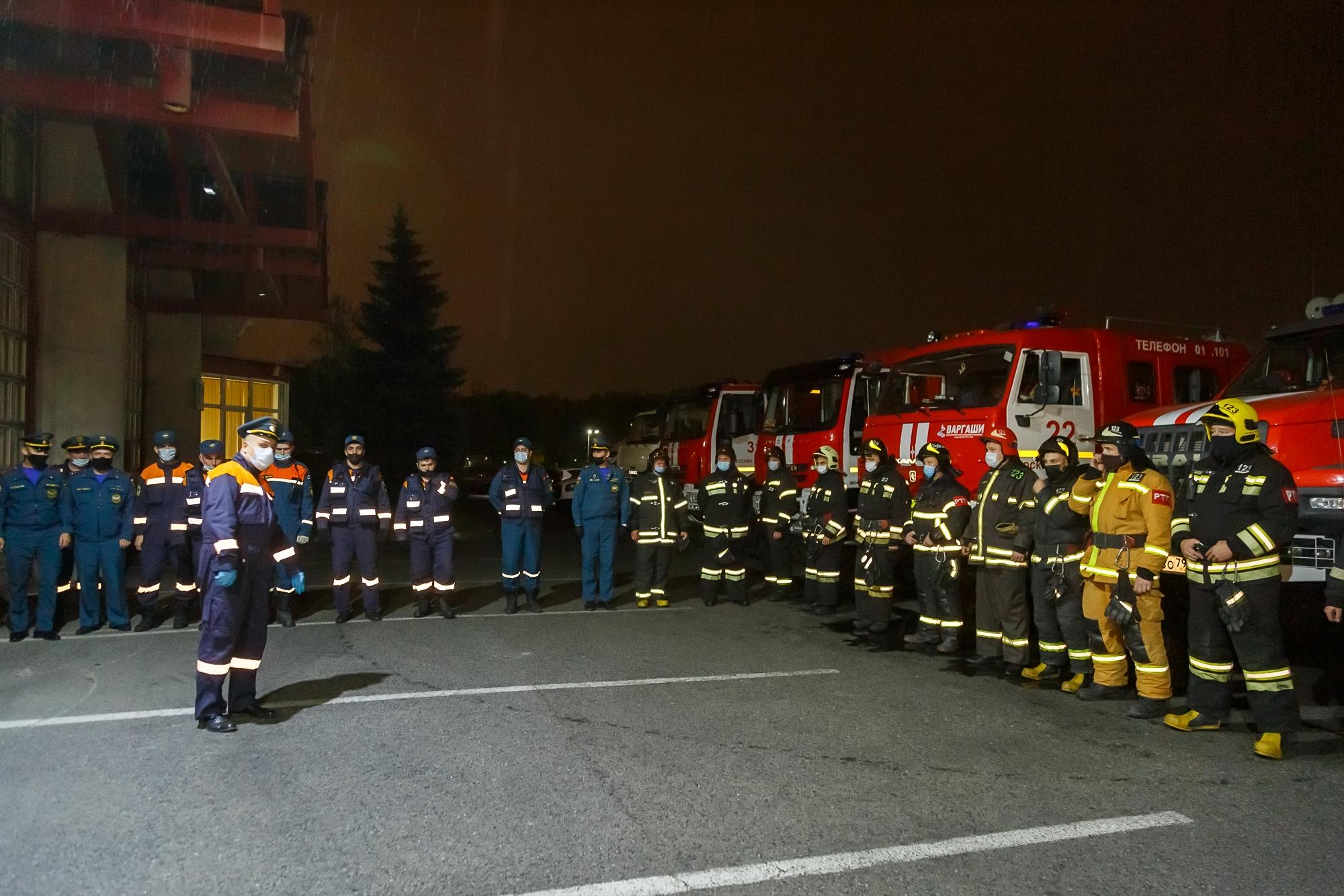 Группировка столичного МЧС привлечена к тушению пожара под Рязанью