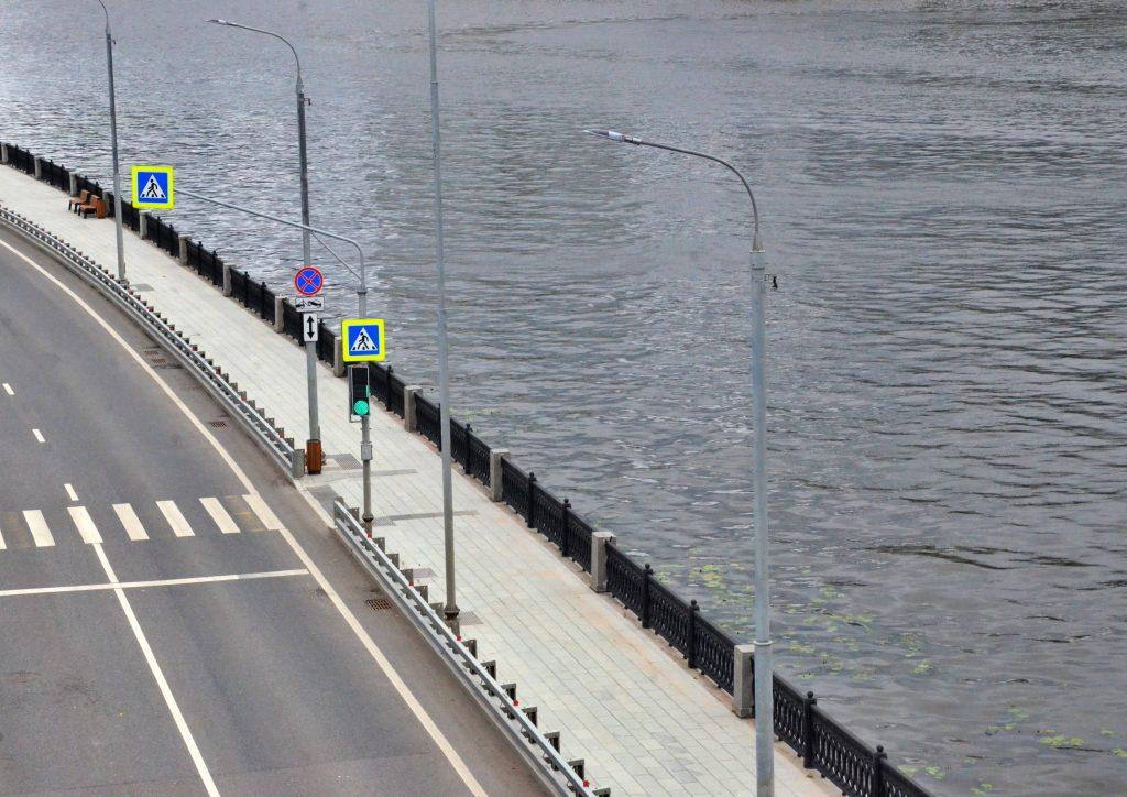 Ремонт Павелецкой набережной завершили в Даниловском районе. Фото: Анна Быкова