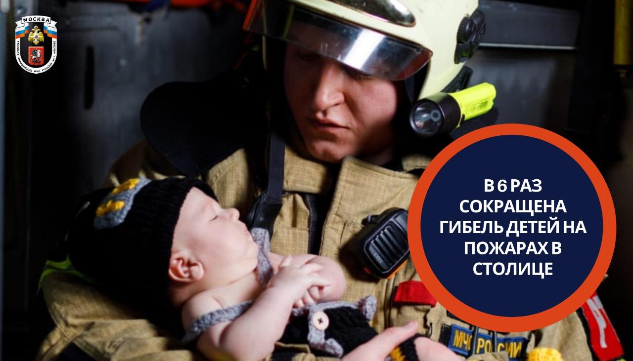 В шесть раз сокращена гибель детей на пожарах в столице