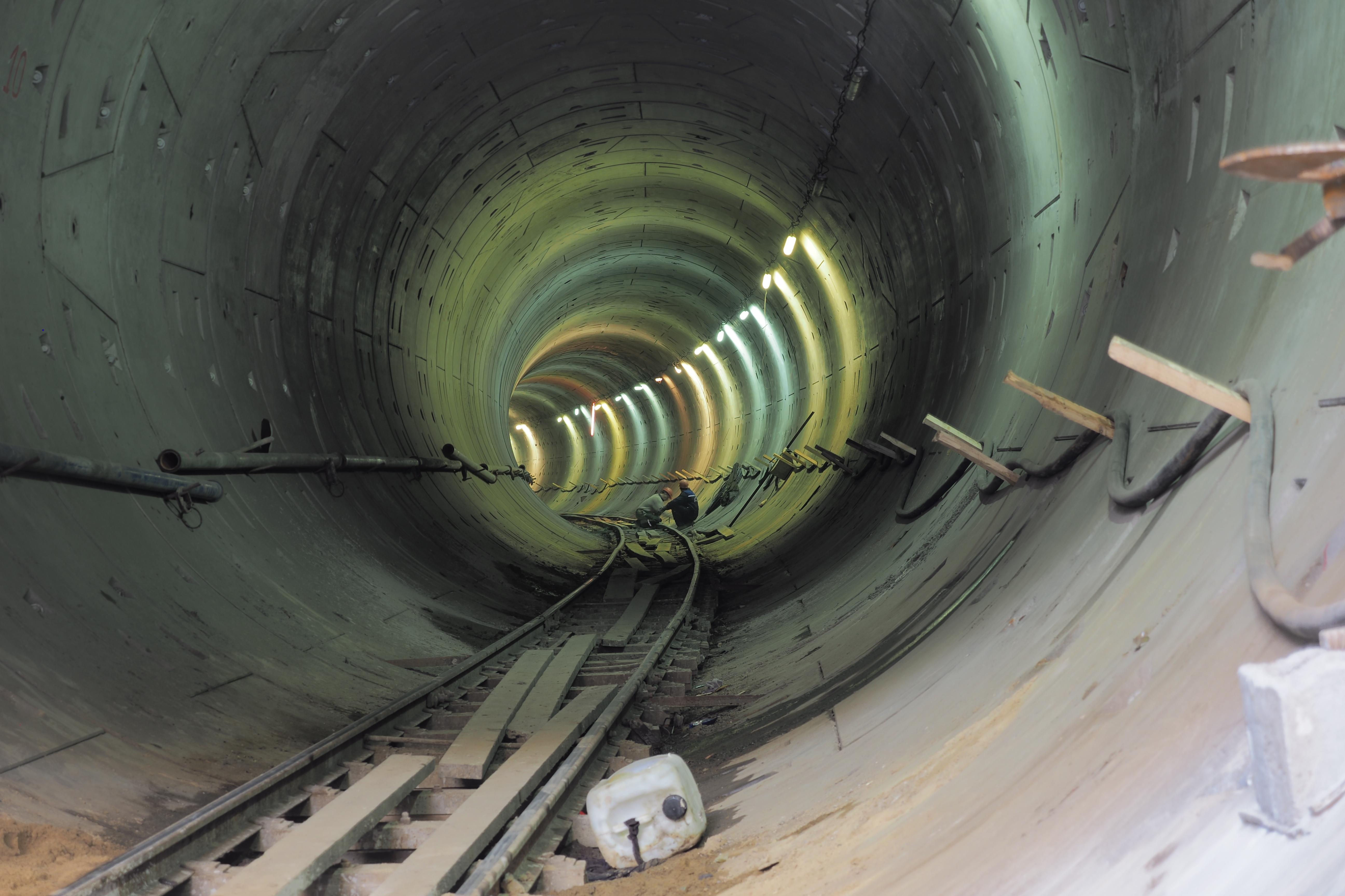 Конструкции станции БКЛ метро «Улица Новаторов» выполнены на 75 процентов