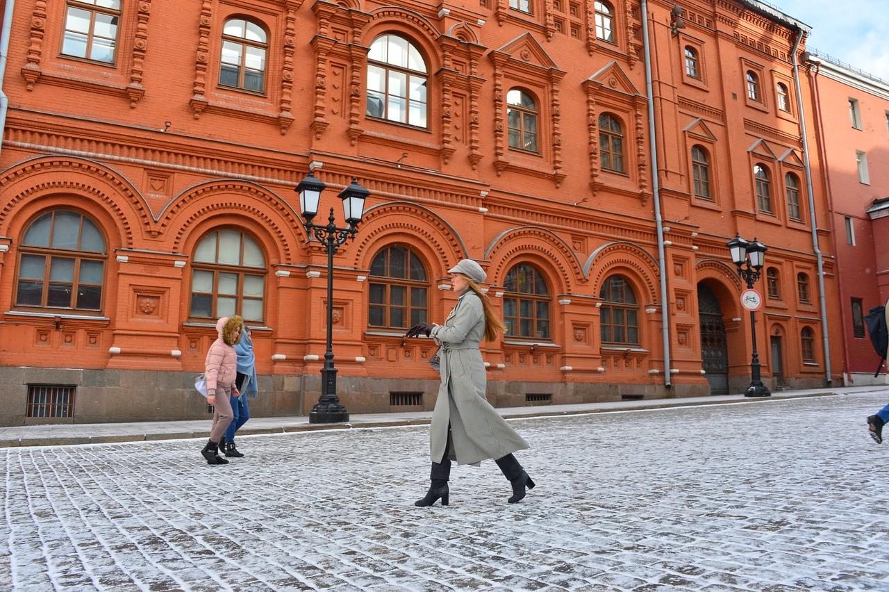 На московских дорогах образуется гололедица в четверг