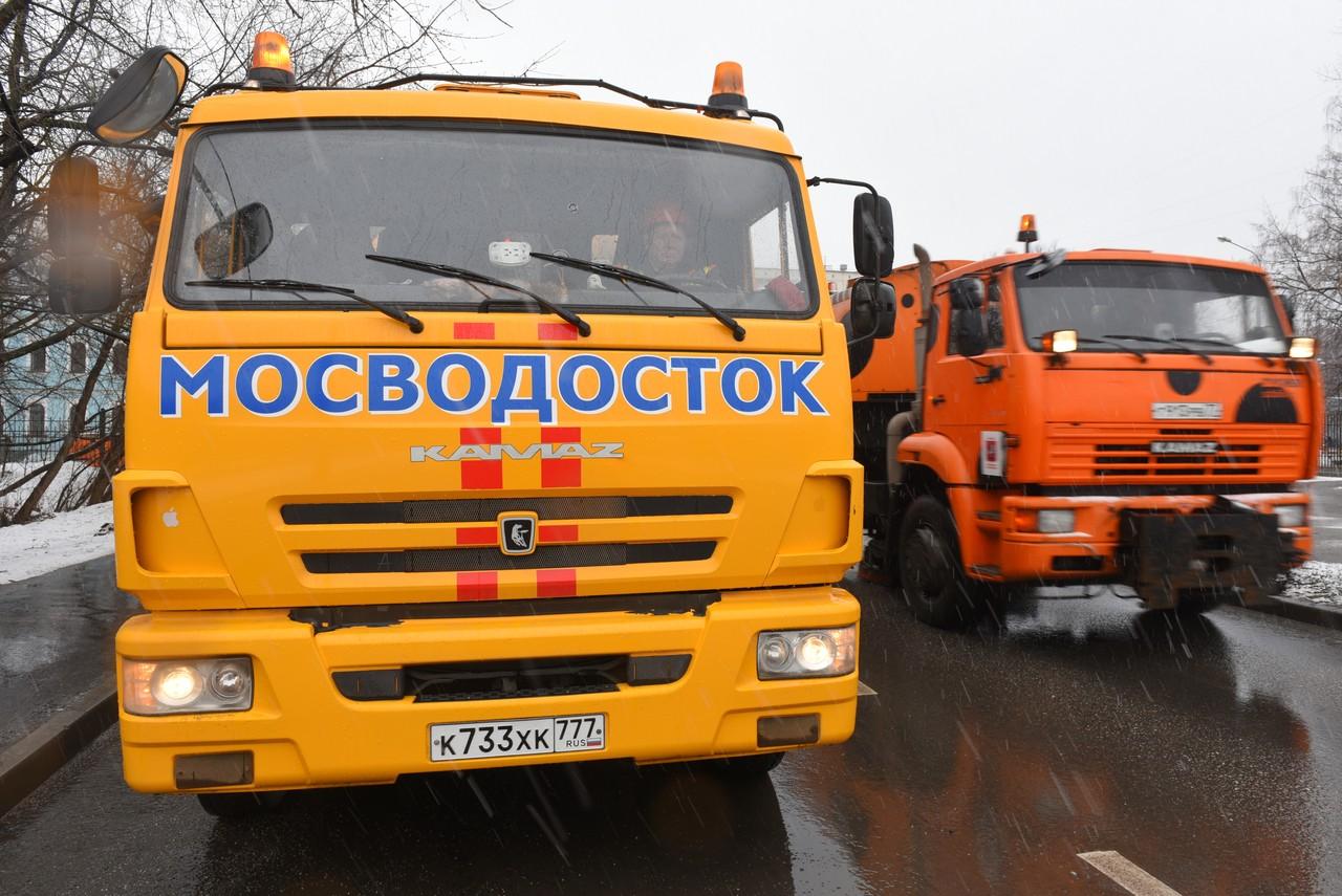 Бригады Мосводостока перевели на усиленный режим работы из-за потепления